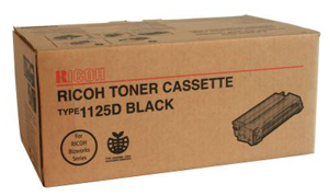 401129, RICOH, TONER CARTRIDGE OEM, BLACK, TYPE 1125D